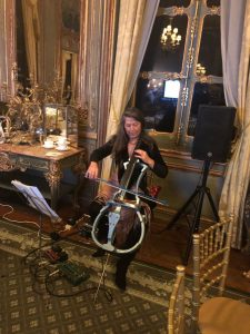 looping cello for corporate event