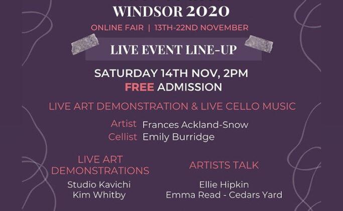 Art & Music Windsor contemporary Art Fair on Zoom 14/11/2020 2.45pm – 3.25pm